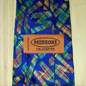 Missoni Monogram Multicolored Silk Tie